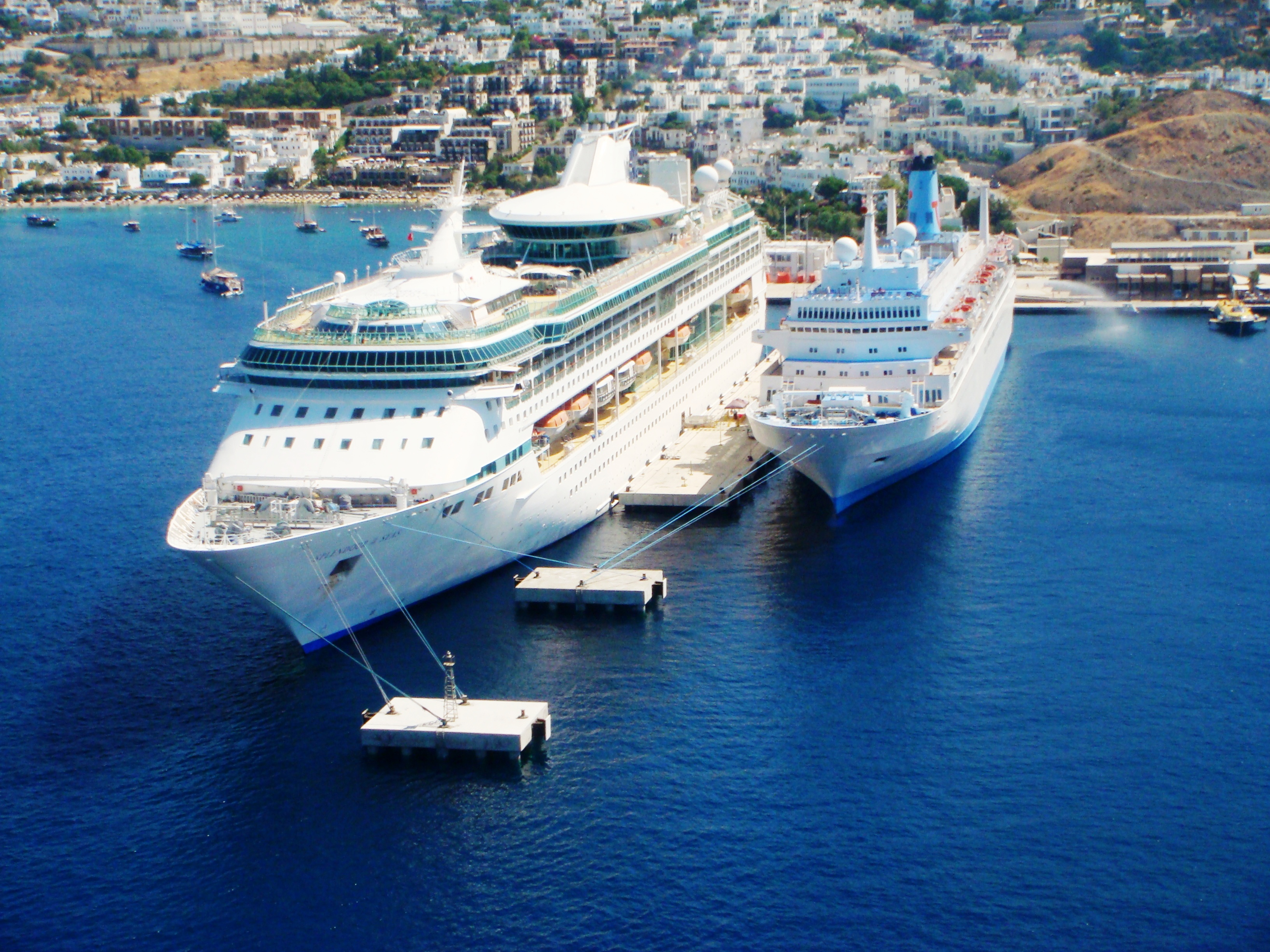 Bodrum Cruise Port Aerial Picture